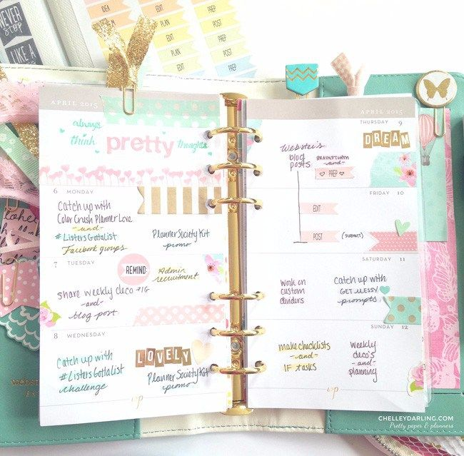 I am LOVING this new trend of paper planners that you get to decorate. This is way more fun than a iPhone calendar. :)