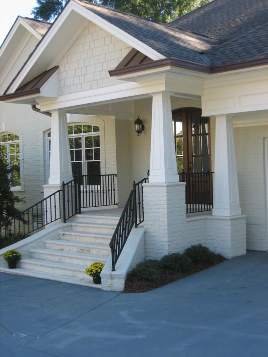 Tapered craftsman style columns doors exteriors for Craftsman style columns