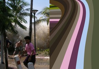 Indian Ocean Tsunami, Thailand: 2004. From Natural Disaster Color series Digital Print, Ed. of 6 39 x 27.5 in | 70x100 cm 2013 Source: photo by David Rydevik via Wikipedia.org