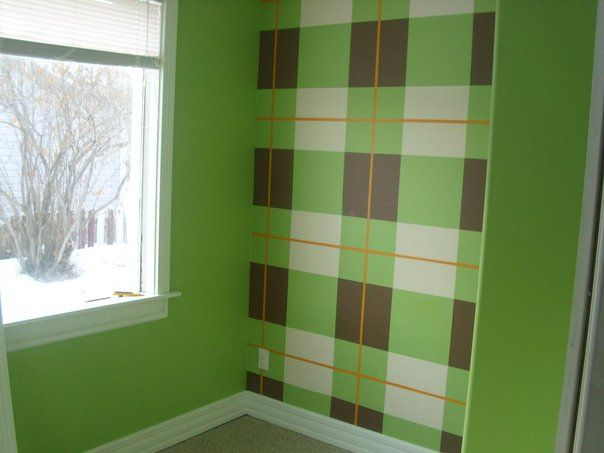 11 best plaid wall paint images on Pinterest | Baby rooms ...