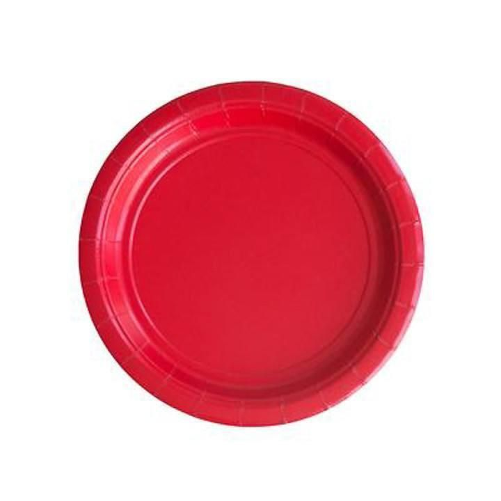Round Cake Plates, Candy Apple Red