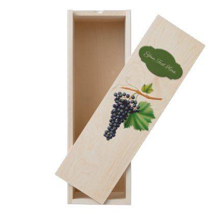 Vintage Grapes Personalized Wooden Keepsake Box - home decor design art diy cyo custom