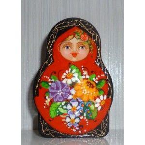 Powder Box - Red doll #babushka #russiandoll #matryoshka #dollsindolls  #handmade #miniature #boxes