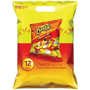 Cheetos Flamin' Hot Cheese Flavored Snack Singles, 12ct