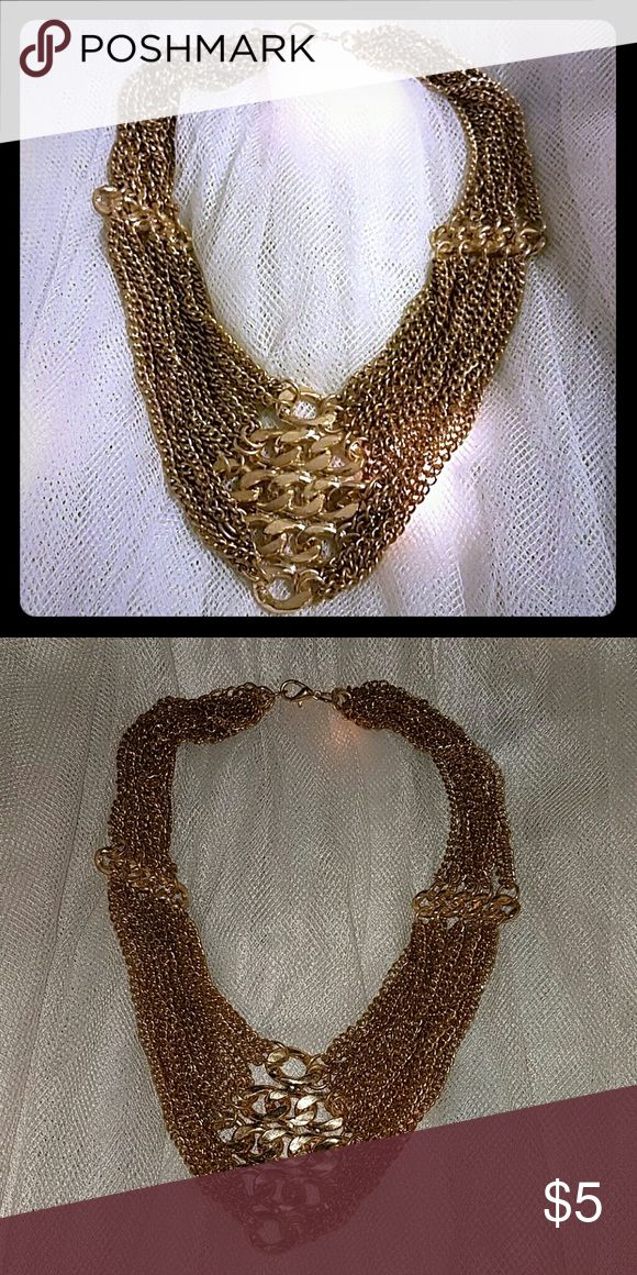 Chunky Gold Necklace Nice weight to it. Adjustable! Jewelry Necklaces