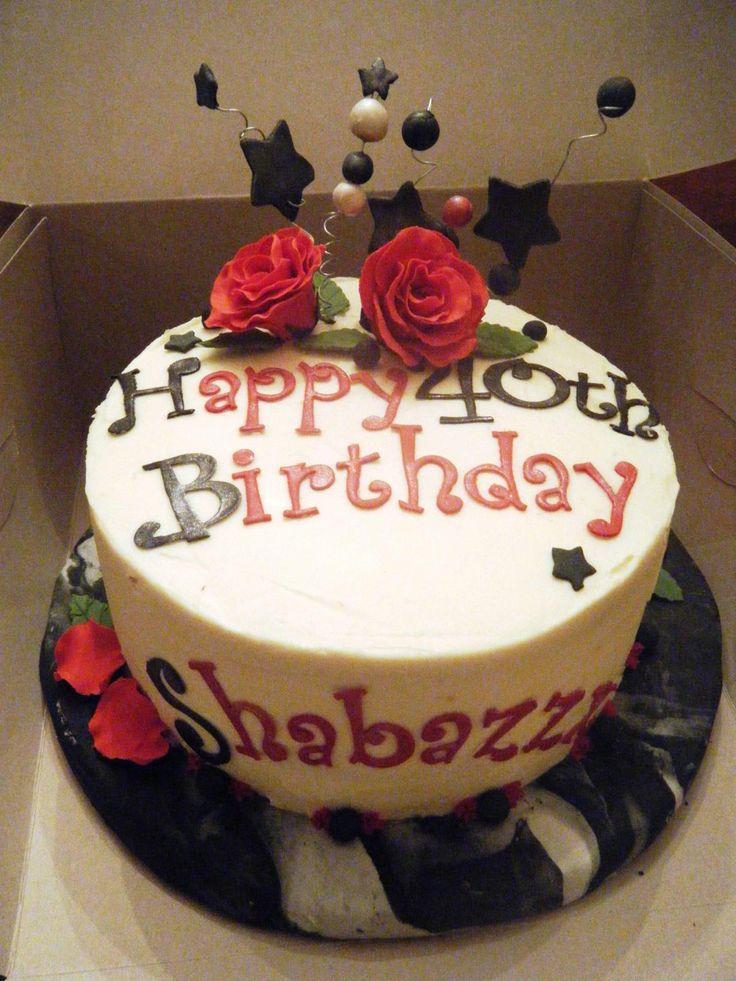 12 best 40th Birthday Cakes images on Pinterest 40 birthday