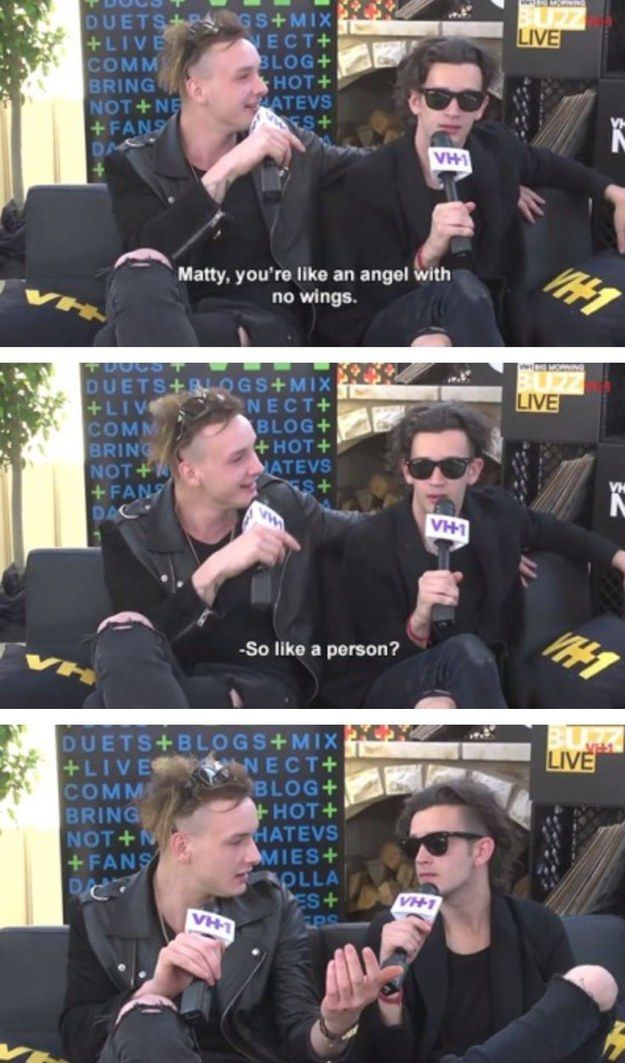 His reactions to his bandmates are perfect. | Community Post: Get To Know: George Daniel Of The 1975