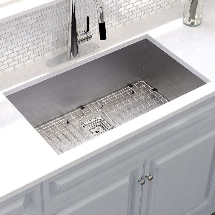 3 1 Phillip Lim Kraus Pax X 18 Undermount Kitchen Sink With Drain Assembly Undermount Kitchen Sinks Kitchen Sink Kitchen Design Small