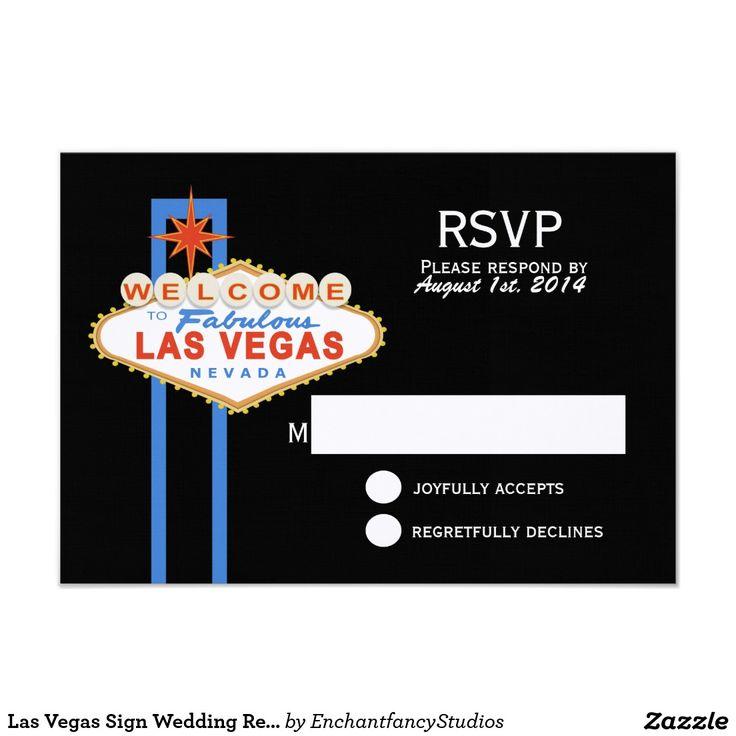 proper response time for wedding rsvp%0A Las Vegas Sign Wedding Response Card