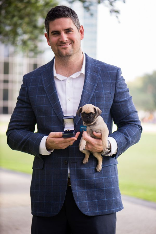Pug Surprise Proposal   Leanne Hope Photography   Reverie Gallery Wedding Blog