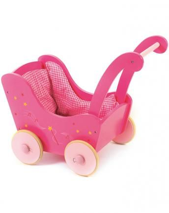 Holz-Puppenwagen LITTLE FAIRY in pink