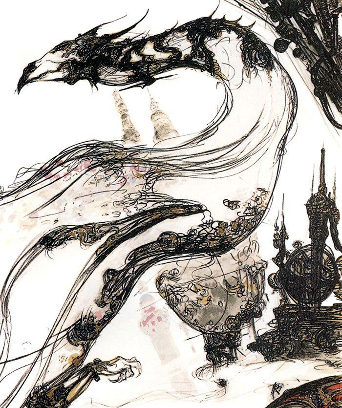 Dragon illustration from Final Fantasy VI