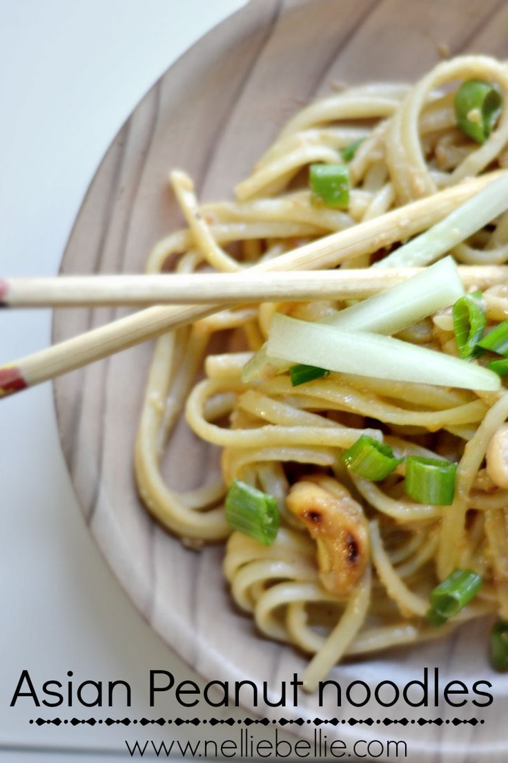 homemade asian peanut noodles recipe. A fast, easy, healthy recipe. ~nelliebellie.com #fast #easy #noodles