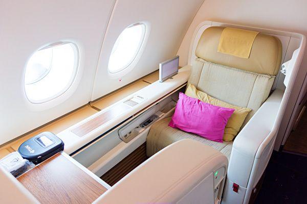 Thai Airways A380-800 Royal First Class http://travel.bart.la/2013/12/08/thai-airways-a380-royal-first-class-tg676-bkk-nrt/