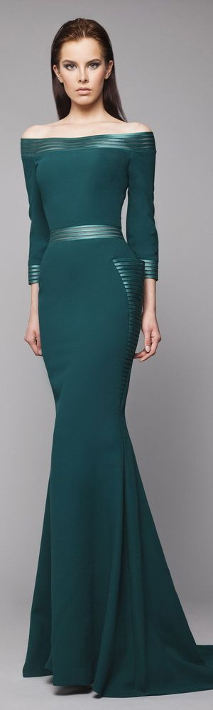 Tony Ward emerald maxi dress  women fashion outfit clothing style apparel @roressclothes closet ideas
