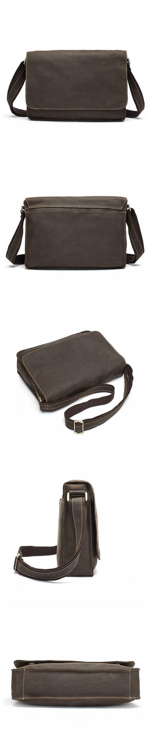 Vintage Leather Full Flap Messenger Handmade Bag Laptop Bag Messenger Bag Satchel Bag