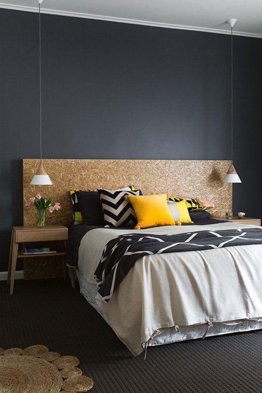 DIY tête de lit en bois