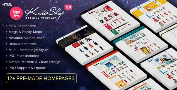 KuteShop - Multi-Purpose Ecommerce HTML Template #webdesign #website #design #responsive #besttemplates #template #SiteTemplates #Retail #Shopping