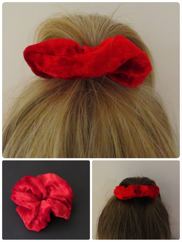 Candy Apple ( hair scrunchie) Available @  https://abbeydrew.wixsite.com/abbeydoo