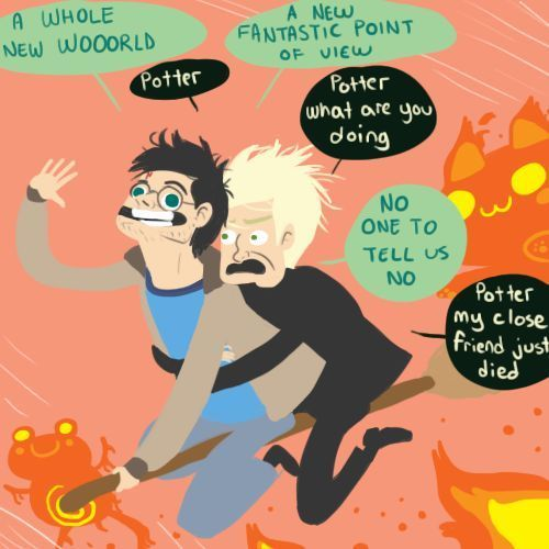 Harry and Draco: An Aladdin Reenactment. I may never stop laughing.