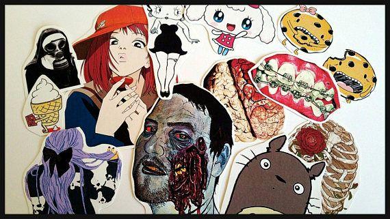 Creepy Cute StickersPastel goth stickersTumblr stickersCute