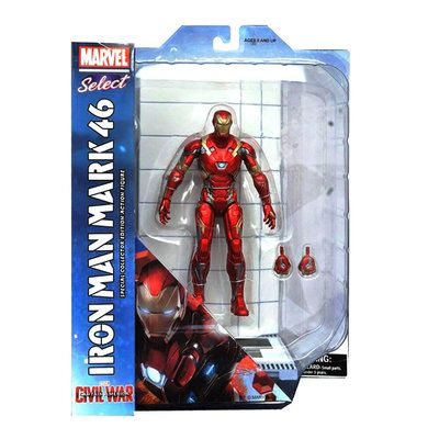 Iron Man Mark 46 Marvel Select Guerra Civil