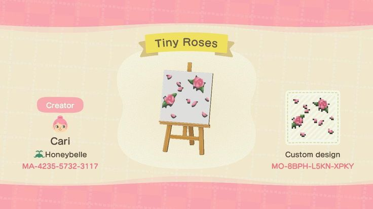 Tiny Roses - Animal Crossing: New Horizons Custom Design ...