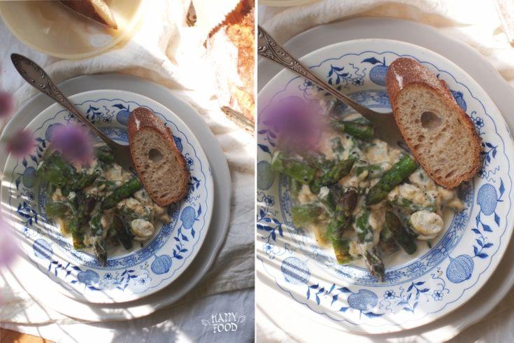 Спаржа в сливочно-сырном соусе