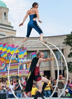 The Mat Velvet and Charlie Show, featured at the Victoria Busker's Festival this July!