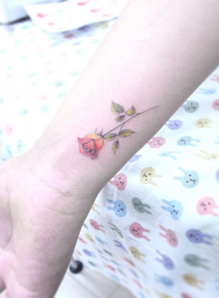 Rose tattoo. Small tattoos are perfect for girls and women alike. Delicate and feminine, I promise these 28 blissfully small tattoos will not disappoint. Enjoy!