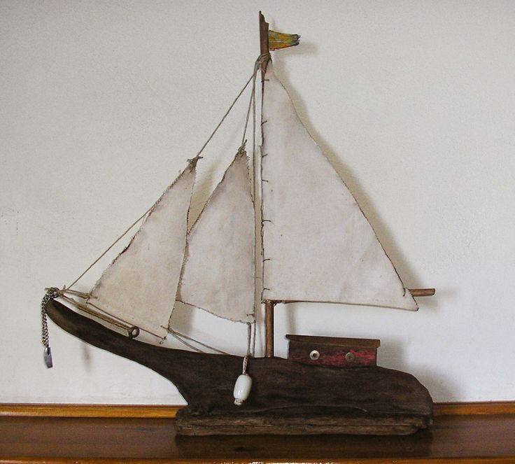 42 best driftwood sailboats images on pinterest sailing for Diy driftwood sailboat