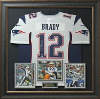Tom Brady Signed New England Patriots Home Jersey.