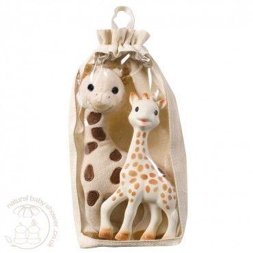 Sophie la Giraffe - Soft Sophie Gift Set  www.naturalbabyshower.co.uk/sophie-la-giraffe-soft-sophie-gift-set.html