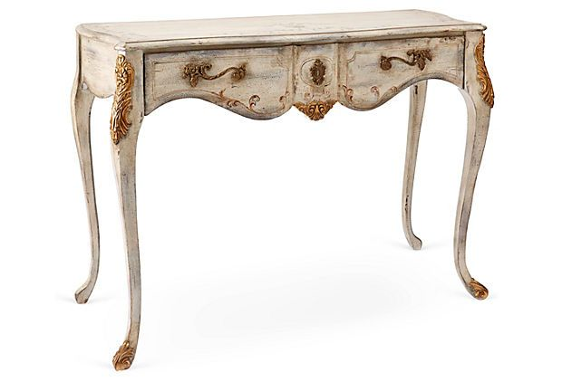 2nd Floor / In The Dressing Room Area Of The Cherise Young Girl's Closet And Dressing - Powder Room / Halliday Gilded Console Table, Cream on OneKingsLane.com