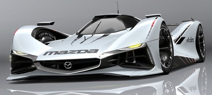 Here's the newest Vision Gran Turismo car: the Mazda LM55, a modern follow up to the company's Le Mans-winning past.