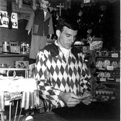 Steve Martin working at the Main Street Magic Shop in Disneyland.