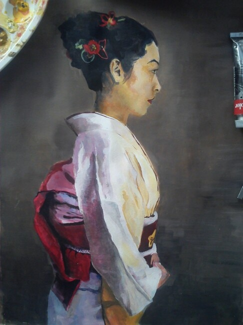 #painting#japanese#girl#acrilic