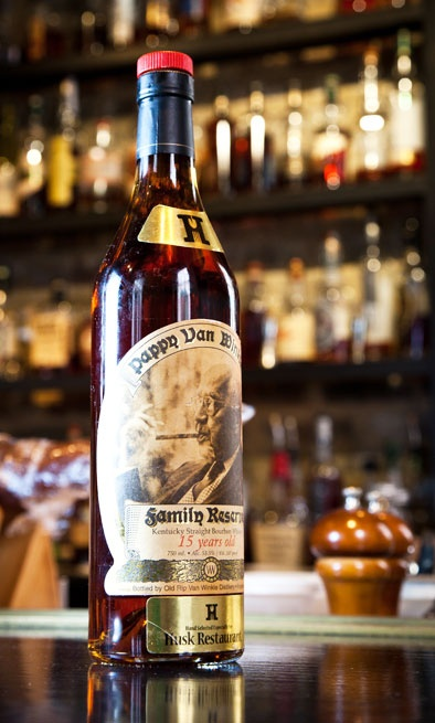 Pappy Van Winkle - 15 or reserve rye - The 23 year reserve is $240 a bottle.