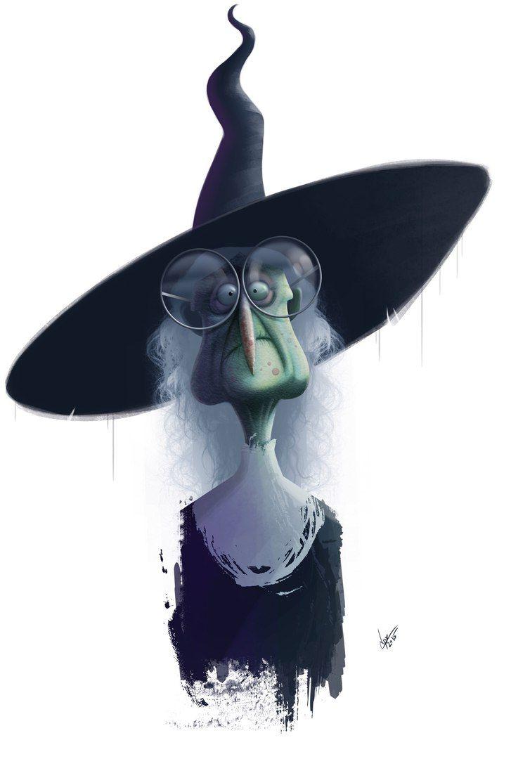 Открытки, смотреть прикольные картинки про ведьм
