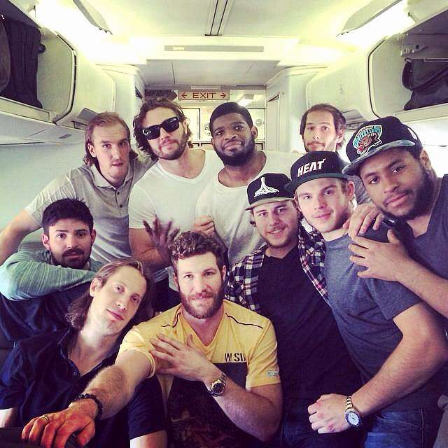 THANK YOU FOR A WONDERFUL SEASON!!!!  HABS FOREVER!!! Montreal Canadiens Players Gather For Final Group Shot Of The Season