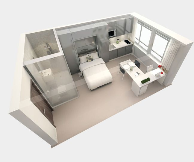 Great layout for student accomodation