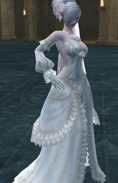 Свадебное платье темный эльф маг