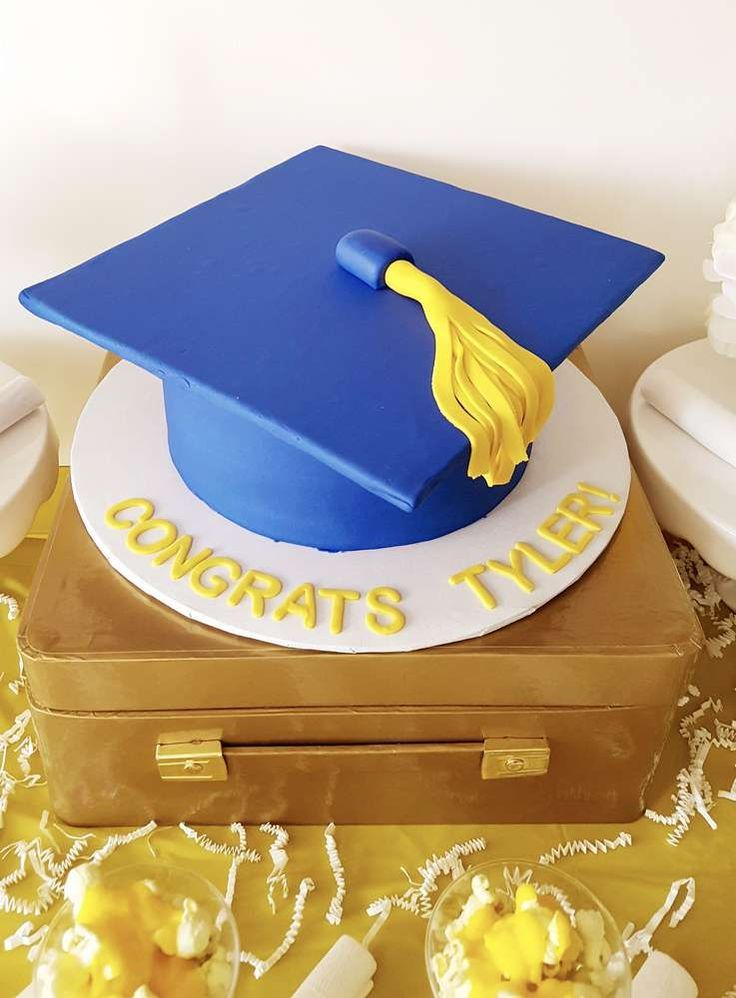 Cool cake at a graduation party! See more party planning ideas at CatchMyParty.com!