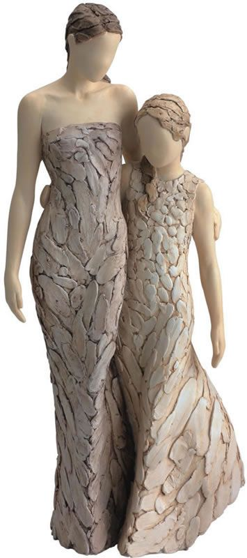 Loving Moment-Mother Daughter Statue Available at AllSculptures.com