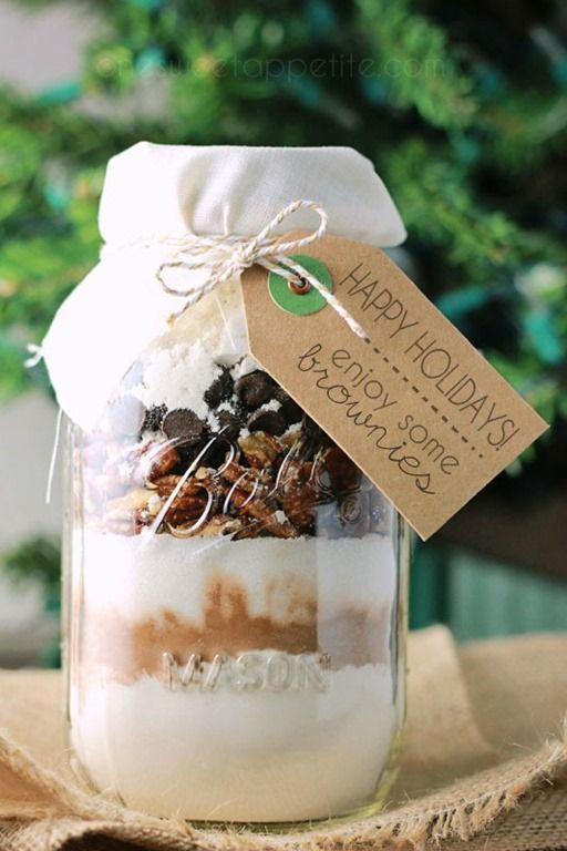 how to make brownies in a jar gift