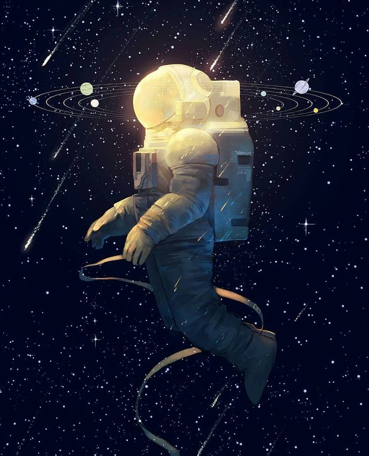 astronaut in space painting - photo #23