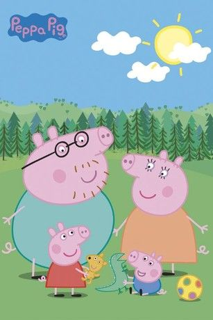 Peppa Pig- I'm sorry if your kid likes this show... but all I see is 4 penises.  Who decided this was the way to draw a pig?