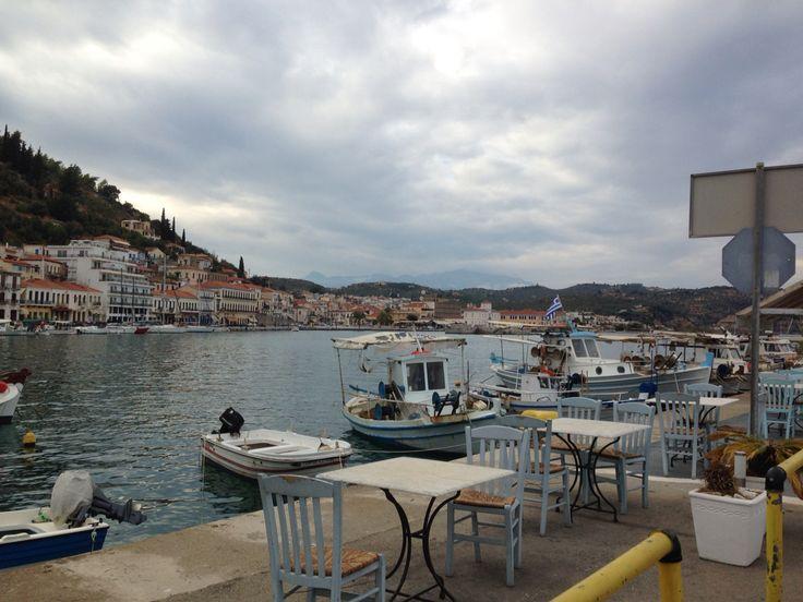 Gytheio view cloudy day greece