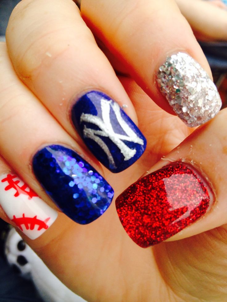 Best 25+ Yankees Nails Ideas On Pinterest