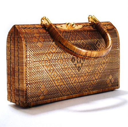 1970s - Indonesian Straw Handbag